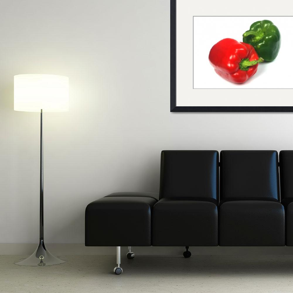 """Red and green pepper&quot  (2010) by Tom_K"