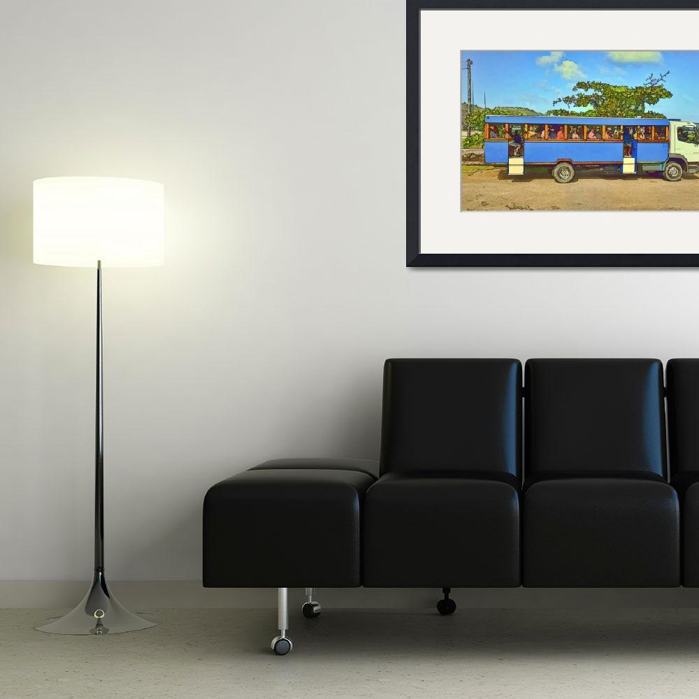 """Bora Bora Tour Bus&quot  (2011) by PaulCoco"