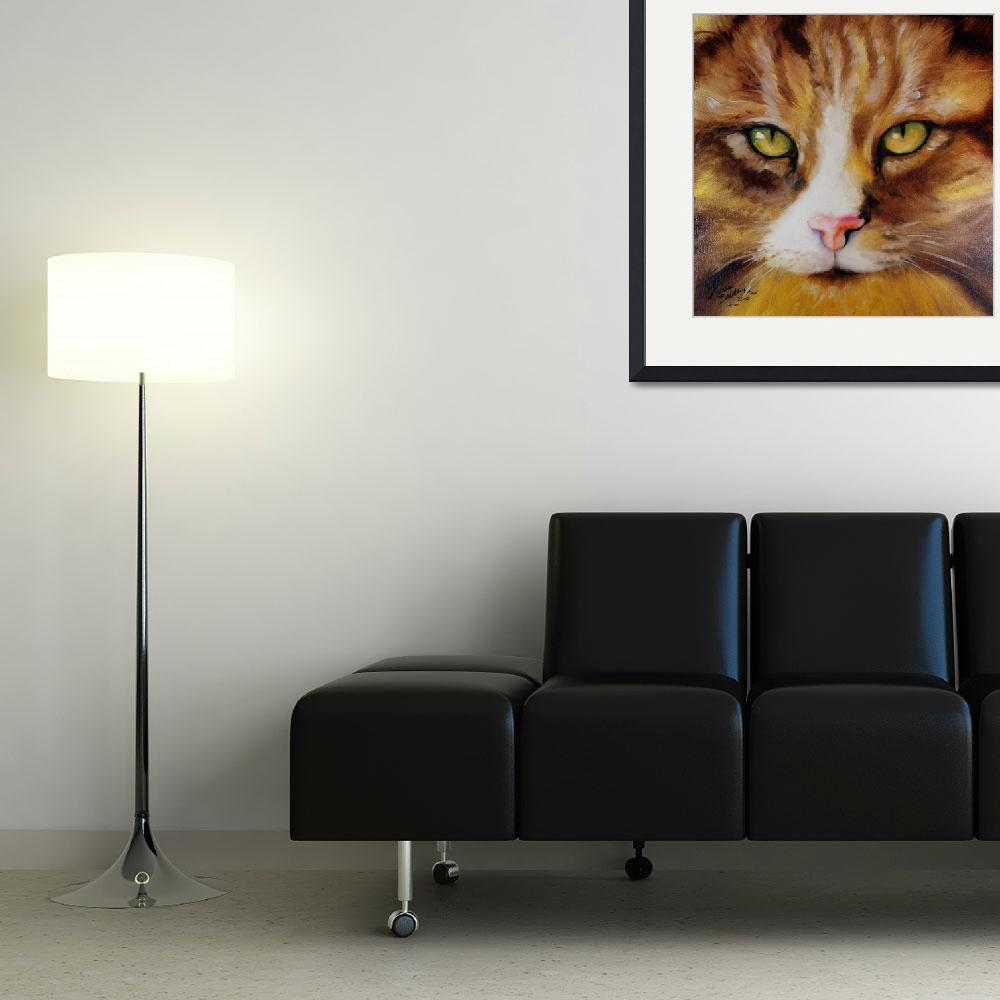 """AMBER EYES SWEET KITTY&quot  (2010) by MBaldwinFineArt2006"