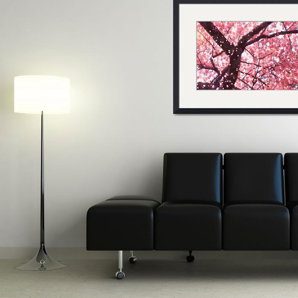 """Cherry blossom tree 2&quot  (2013) by lanjee"