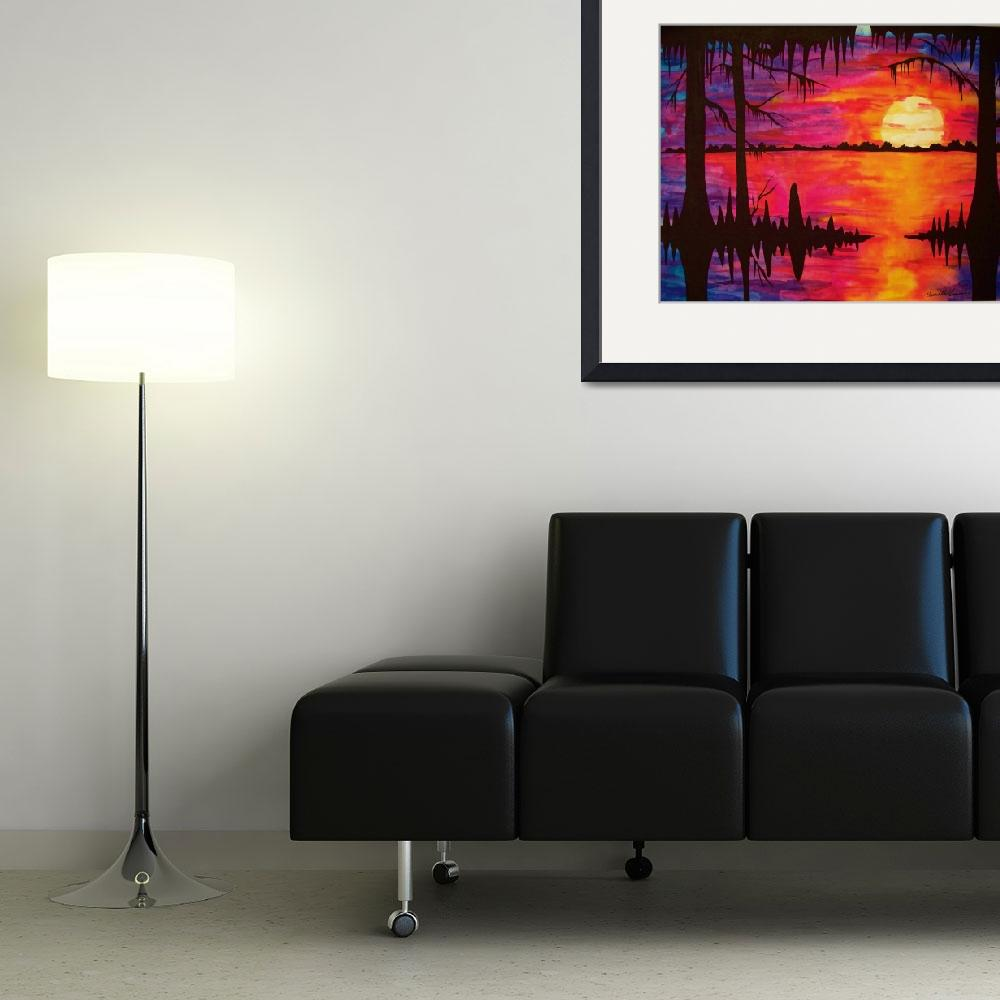"""Big Swamp Sunset&quot  (2010) by neworleansartist"