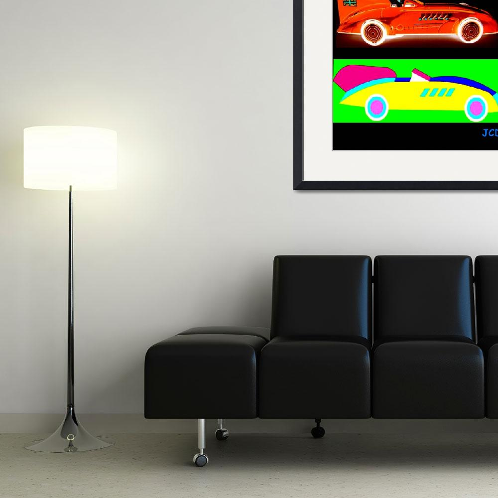 """racing cars&quot  (2013) by WOWPRINT"