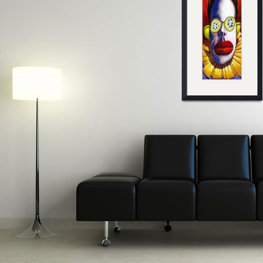 """Clown 8 x 20&quot  by MikeCressy"