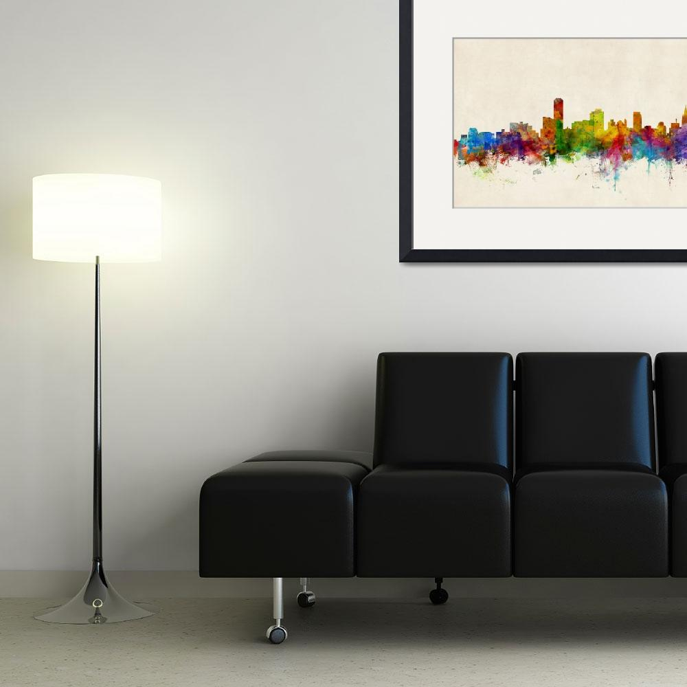"""Adelaide Australia Skyline&quot  (2013) by ModernArtPrints"
