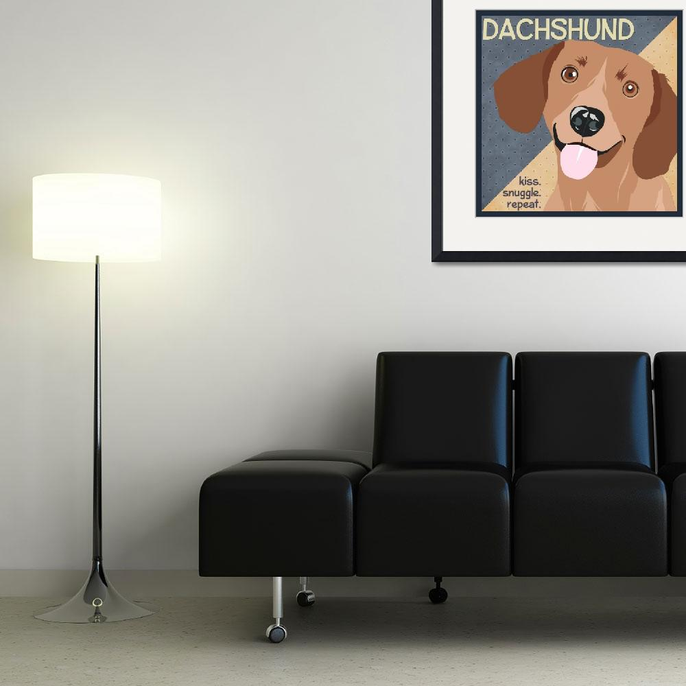 """Dachshund&quot  (2012) by DaecuGifts"