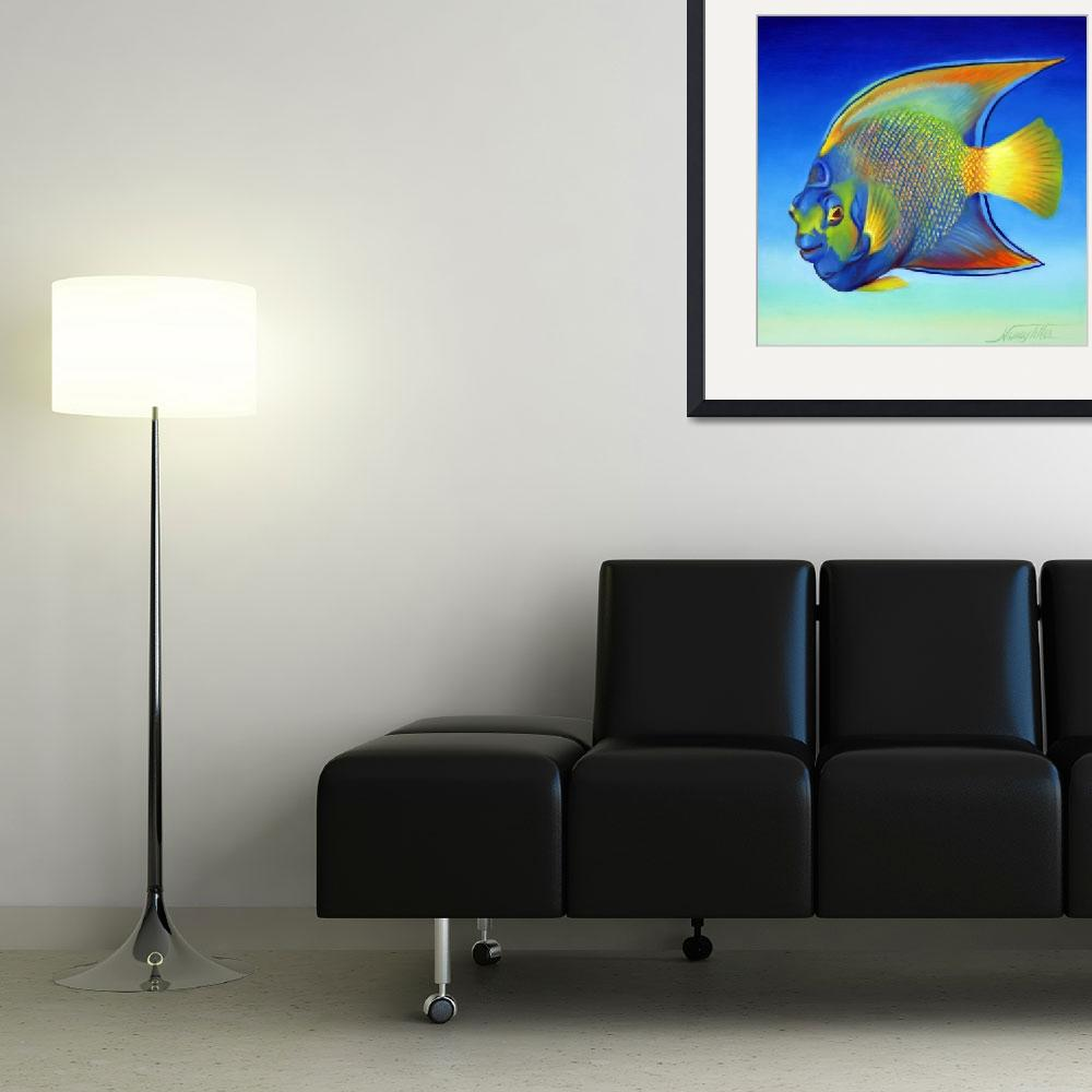 """Juvenile Queen Angelfish Also&quot  (2007) by nancytilles"