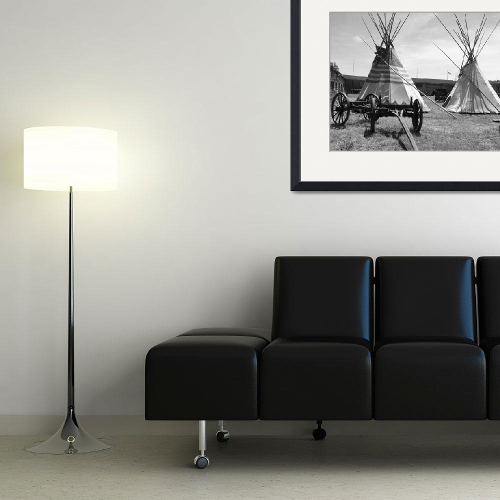 """Native Tipi - Black And White Photography&quot  by artsandi"