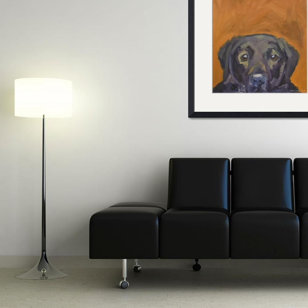 """Dogs - Dog, Black - Labs&quot  (2008) by KarinLauria"