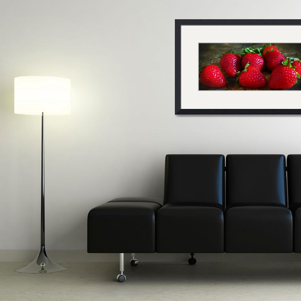"""Strawberries3&quot  (2011) by EMBlairArtwork"