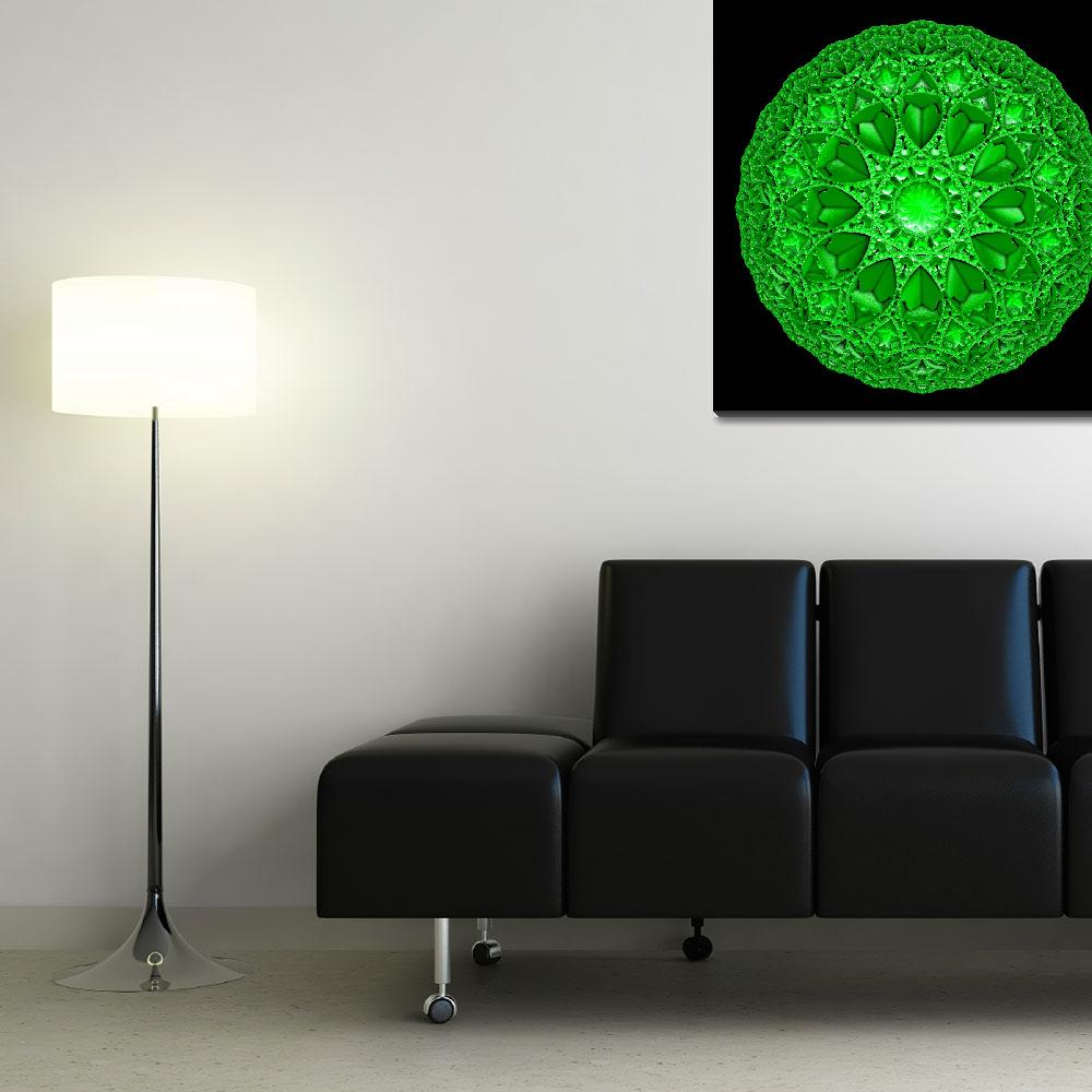 """Green Mandala&quot  (2010) by myikpix"