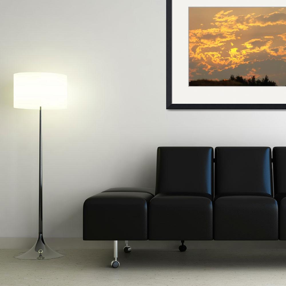 """OFFICE ART PRINTS Sunset Yellow Orange Glowing Clo&quot  (2009) by BasleeTroutman"