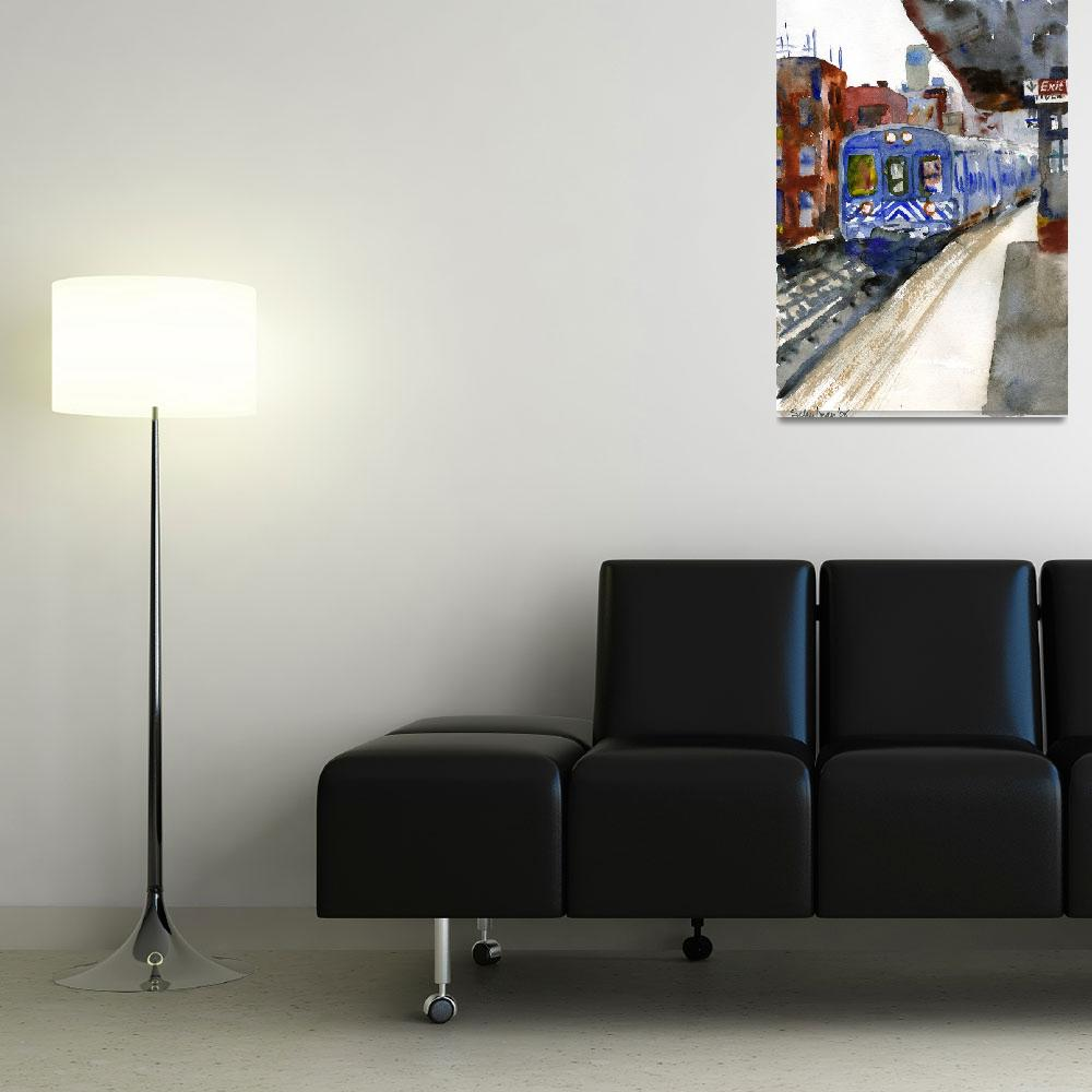 """Harlem Train&quot  (2008) by schulmanart"