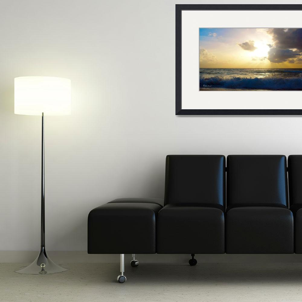 """Sunrise Seascape B3&quot  (2015) by Ricardos"