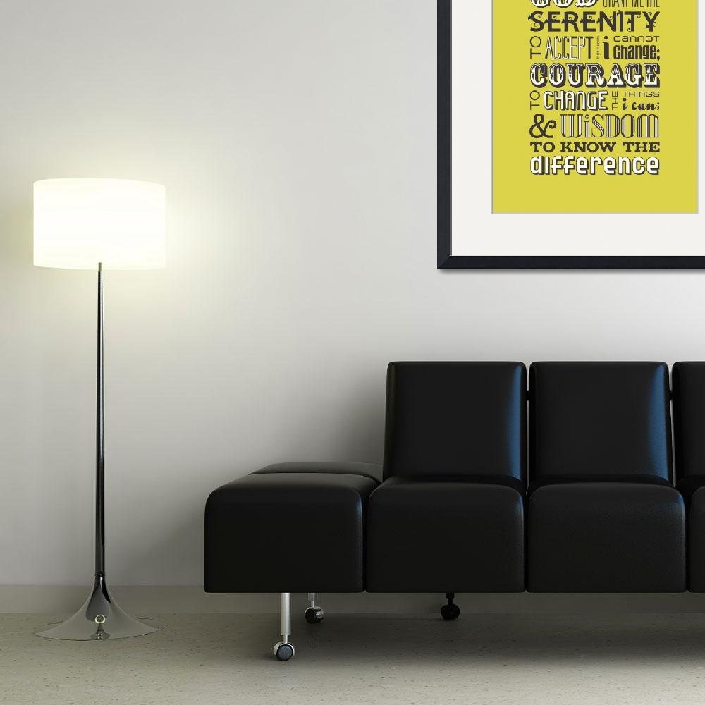 """Serenity Prayer • Chartreuse&quot  by Logophilia"