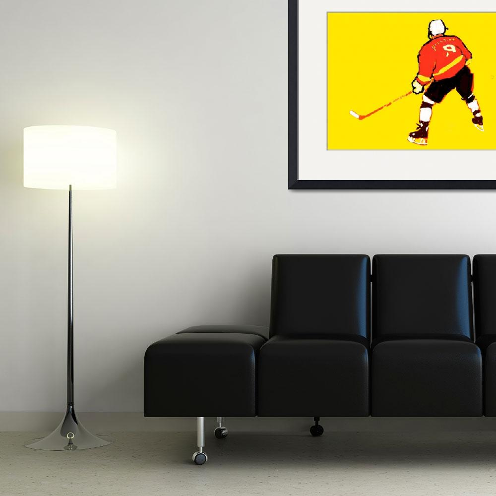 """Hockey Center yellow red black white (c)&quot  (2014) by edmarion"