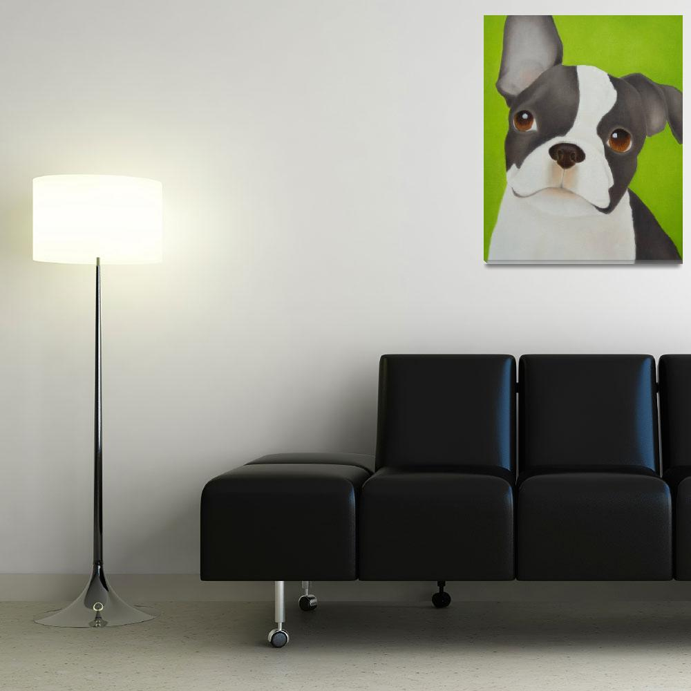 """Boston Terrier Dog&quot  (2013) by terrimeyers"