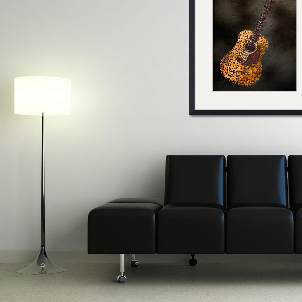 """Abstract Squares Guitar&quot  (2010) by ModernArtPrints"