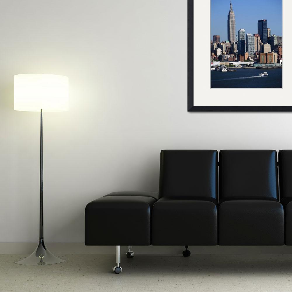 """New York City Skyline&quot  (2012) by Ffooter"
