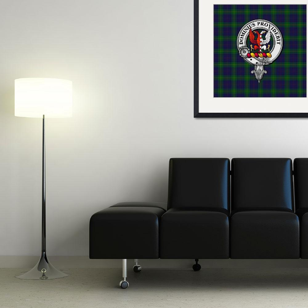 """Boyle Scottish Clan badge and Tartan&quot  (2016) by ivycreekstudio"