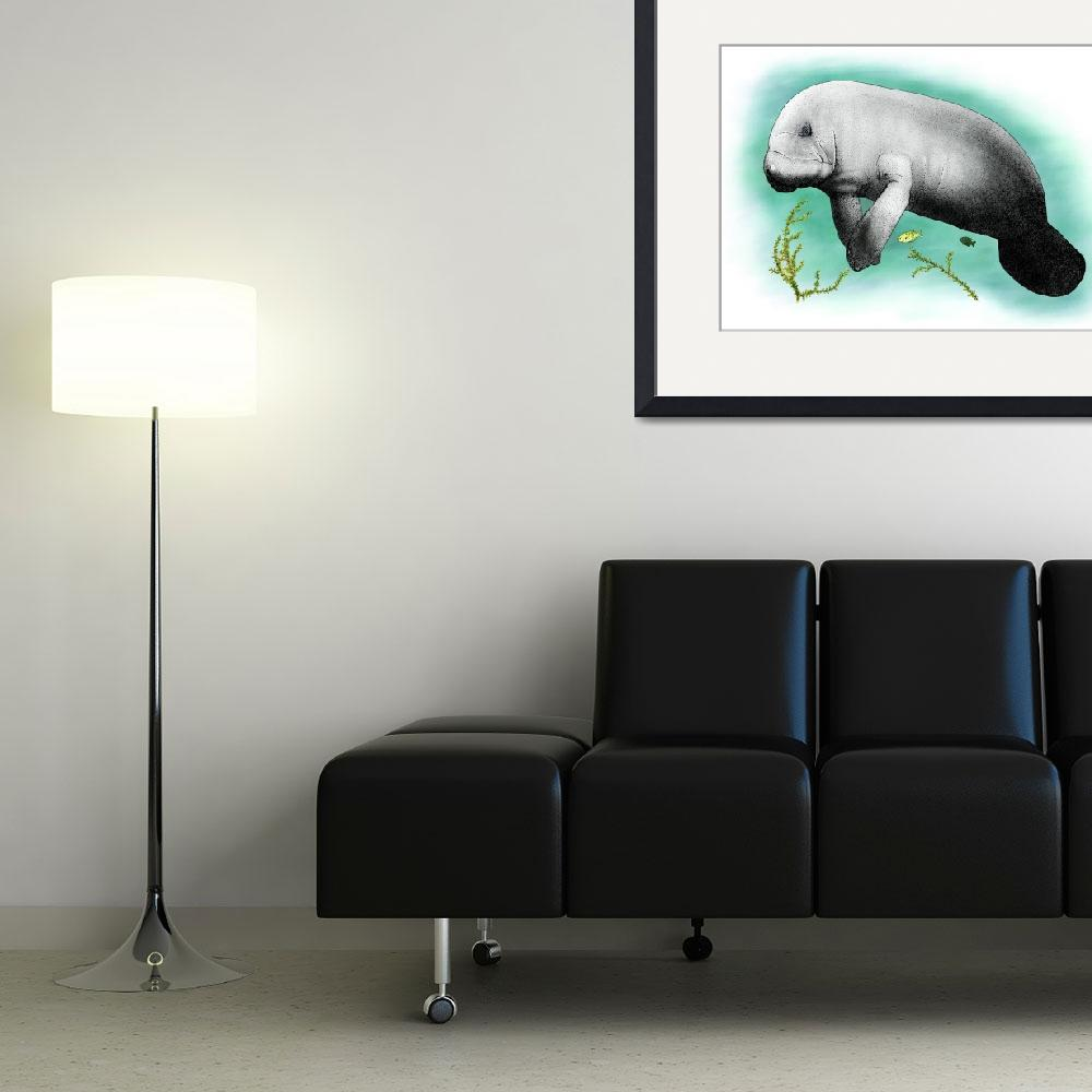 """Manatee&quot  by inkart"