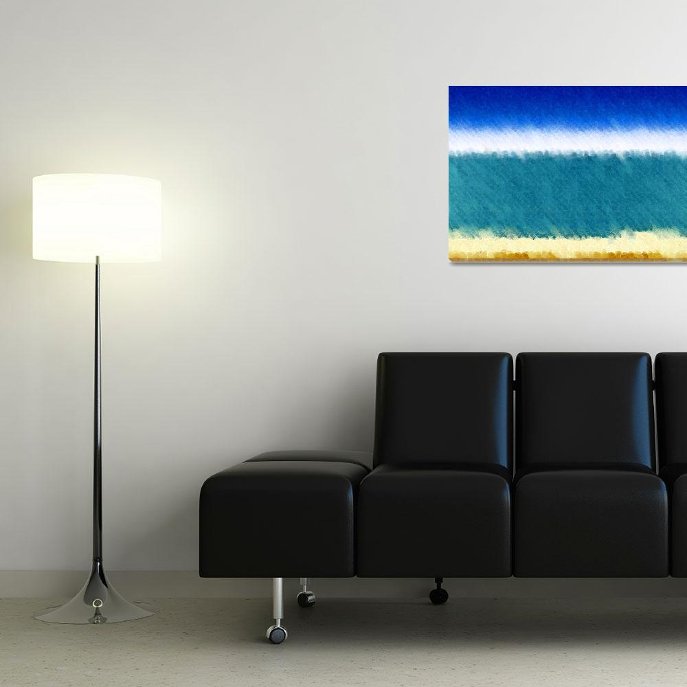 """Beach Scene 3&quot  (2012) by MarkLawrence"