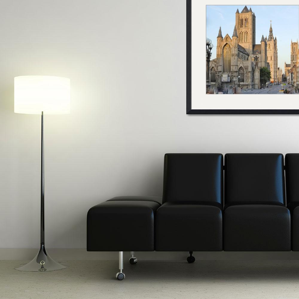 """Three Towers of Ghent&quot  (2011) by marilyndunlap"