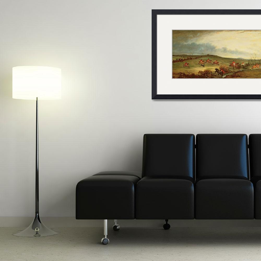 """The Quorn in full cry near Tiptoe Hill&quot  by fineartmasters"