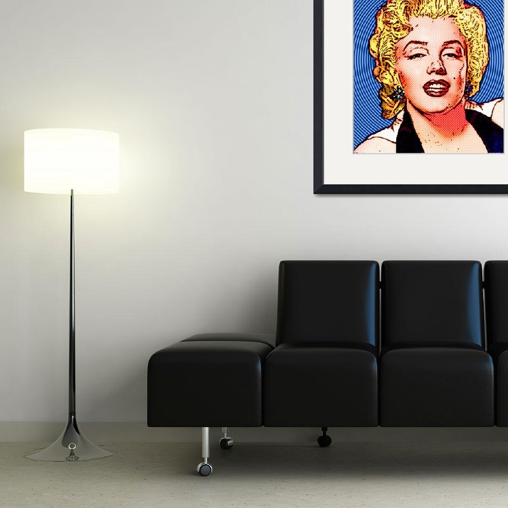 """Marilyn Monroe - Color -Circles&quot  (2011) by Automotography"