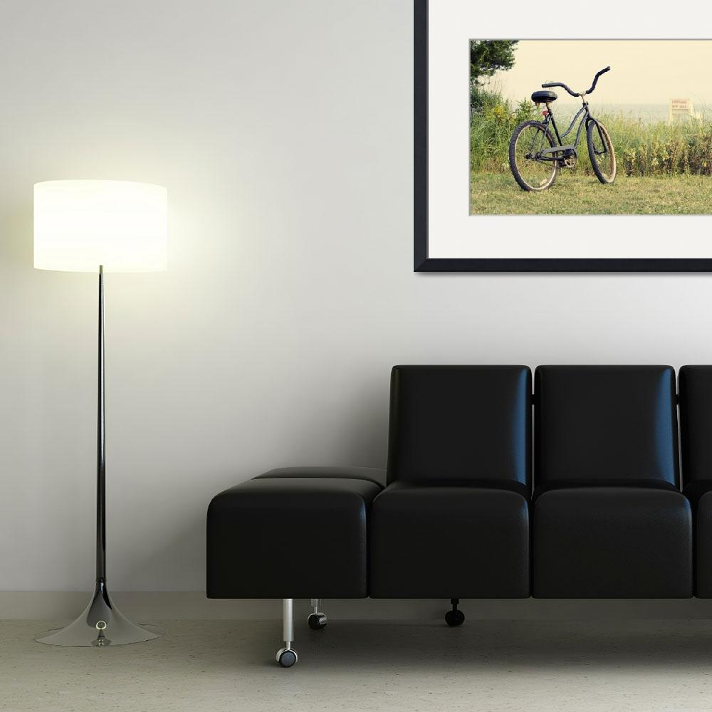 """Bicycle on Beach Photo - ""Summers on the Coast""&quot  (2010) by StephsShoes"