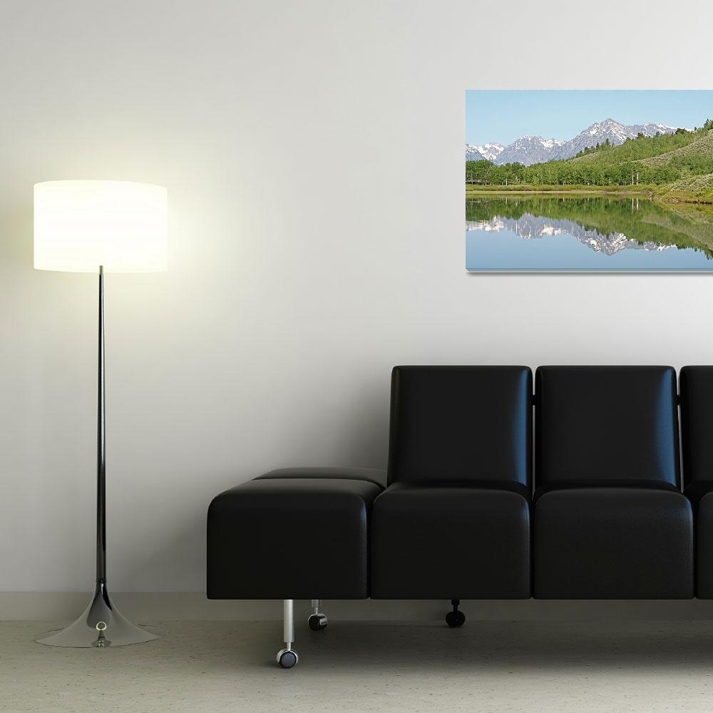 """Teton Reflections 4&quot  (2010) by ByronMorrisArt"