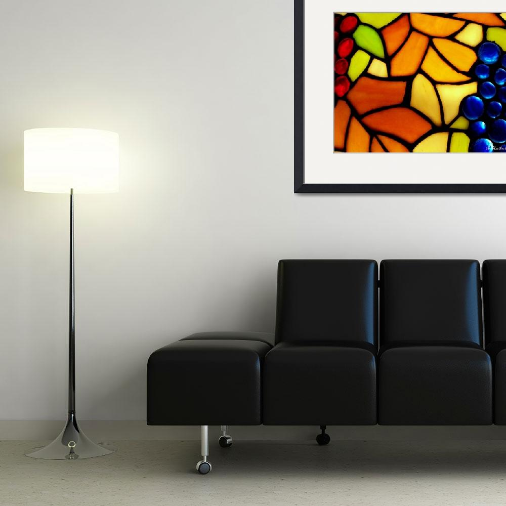 """Stained Glass Grapes&quot  (2011) by bettynorthcutt"