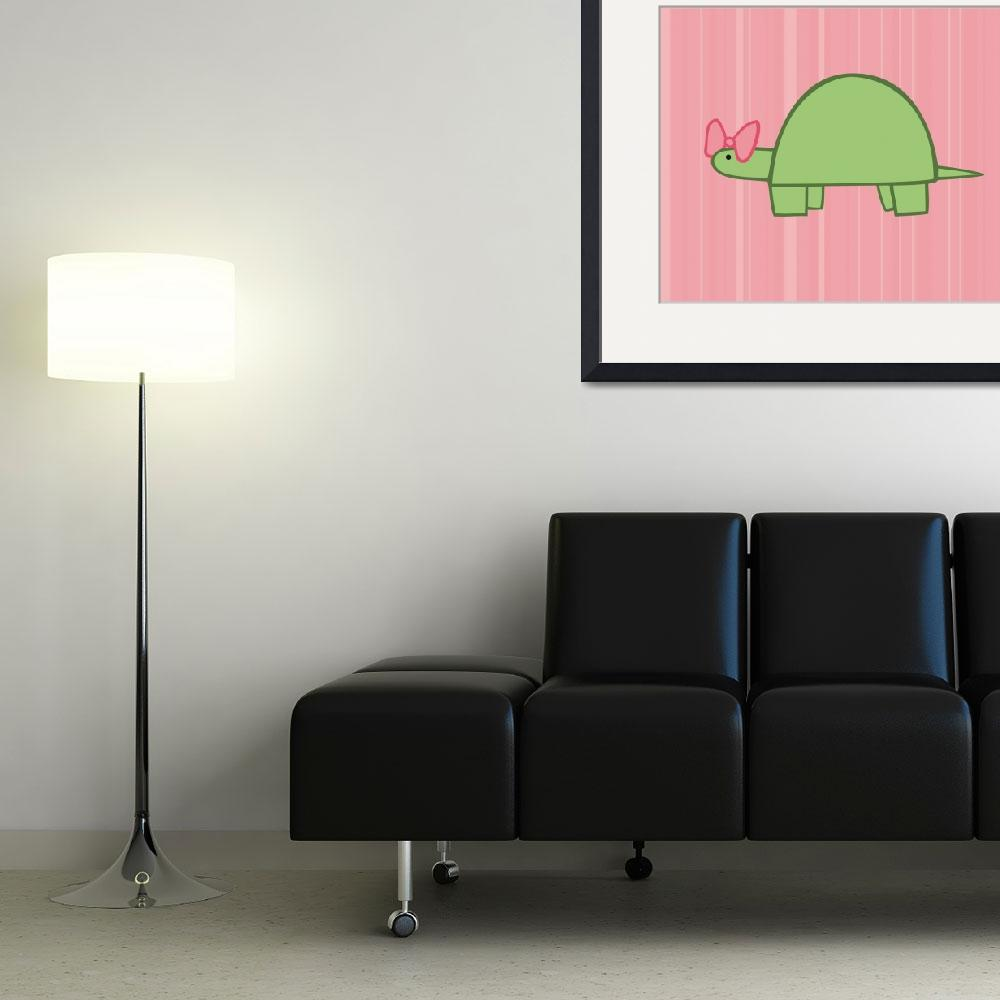 """Girl Turtle Nursery Art&quot  (2011) by ChristyBeckwith"