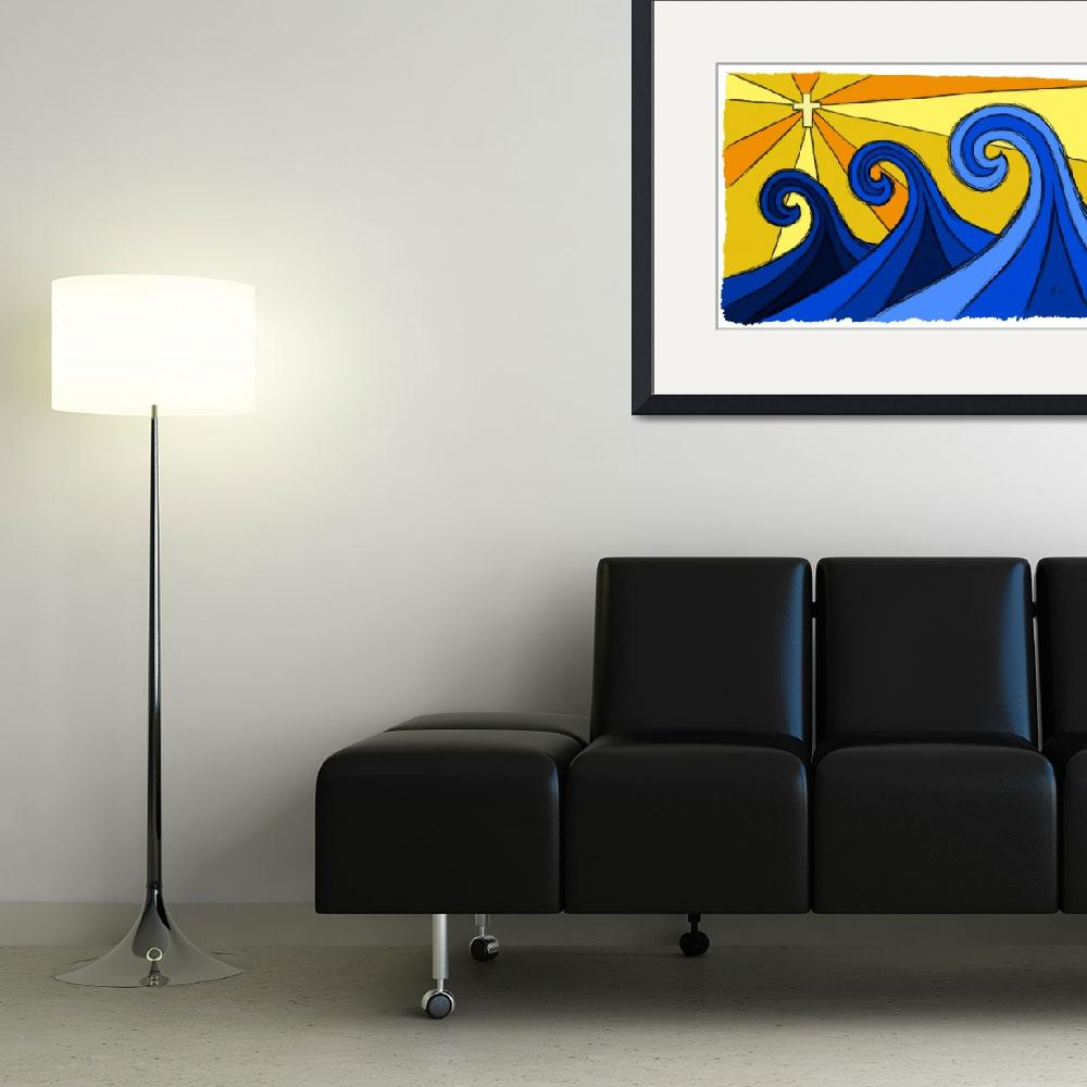 """Shining Waves&quot  (2012) by surfprints"