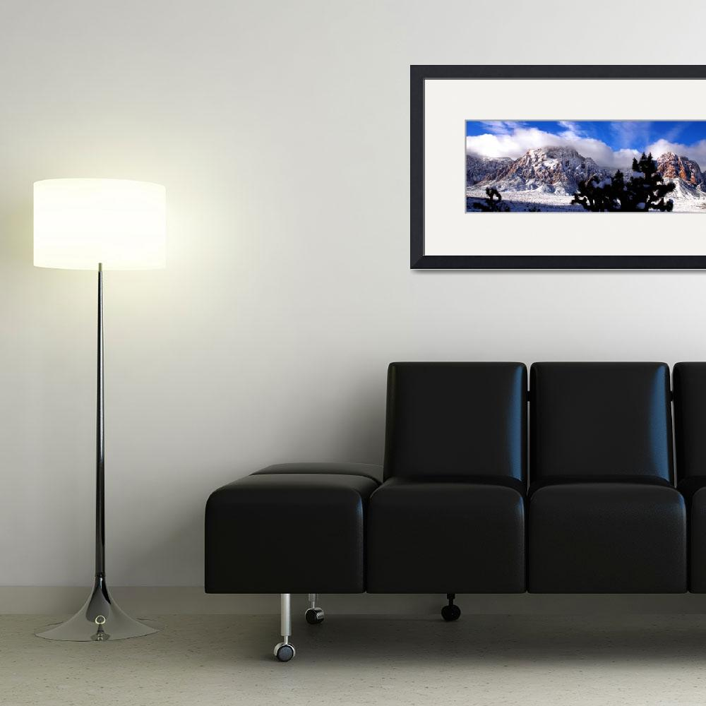 """Red Rock Snow, Panoramic No. 1&quot  (2008) by PadgettGallery"