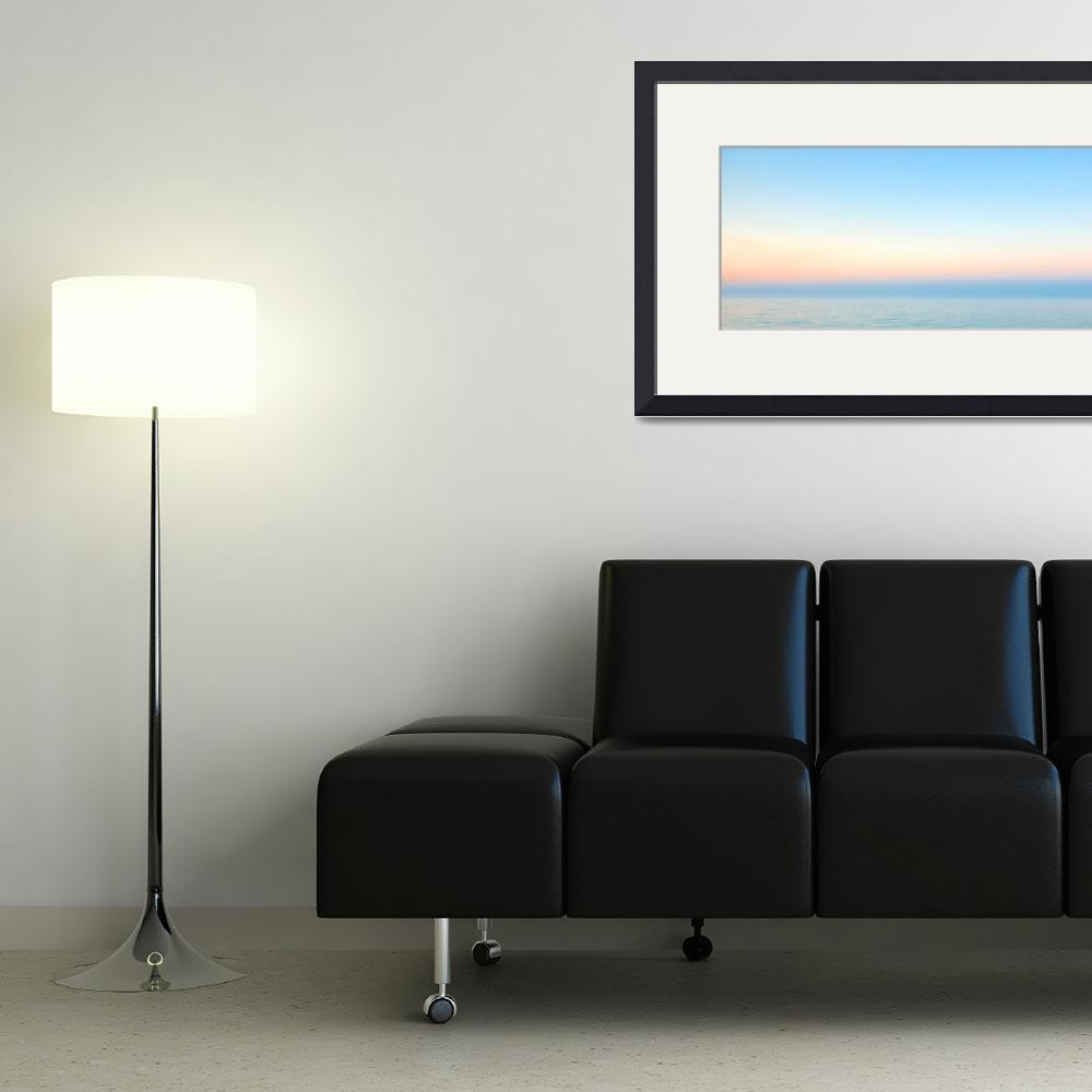 """Pastel Sunrise Seascape C2&quot  (2015) by Ricardos"