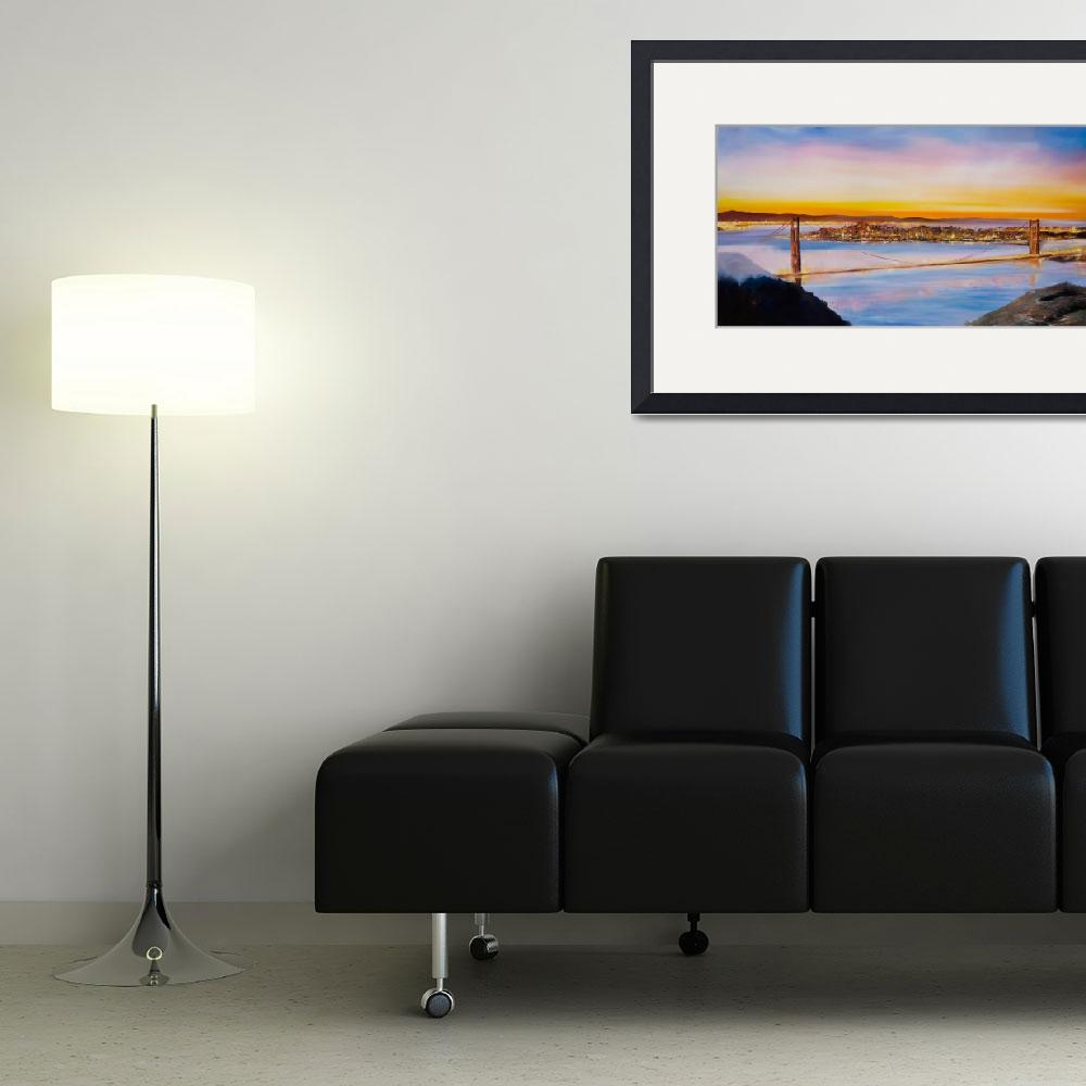 """San Francisco City Skyline&quot  (2012) by citywallart"
