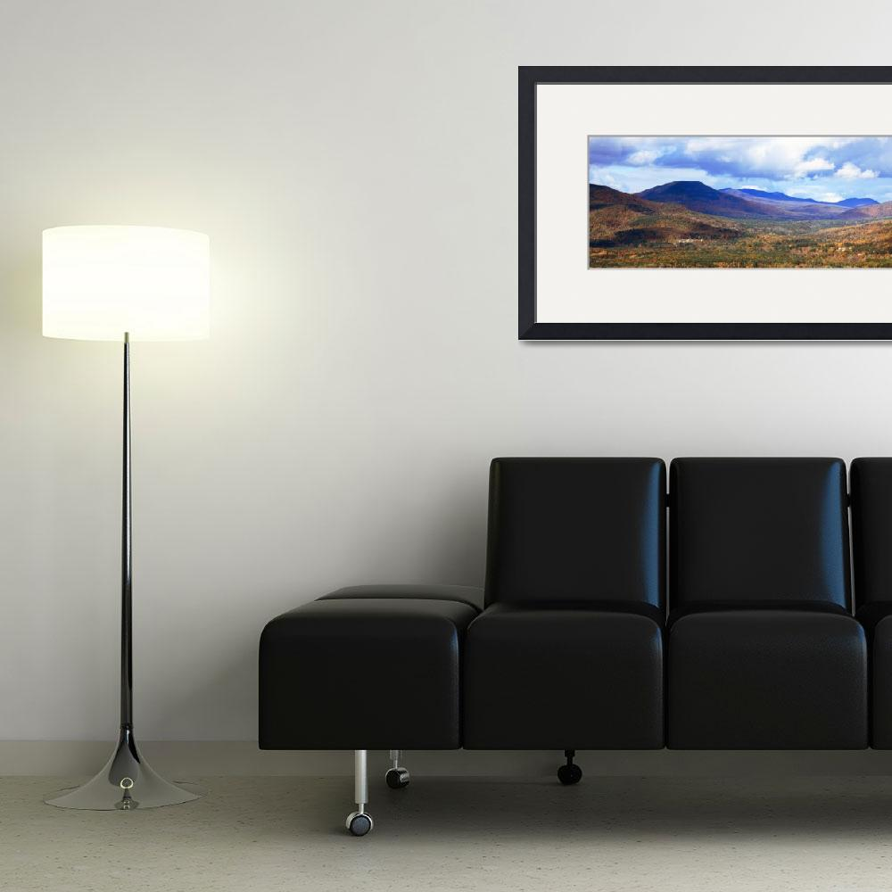 """White Mountains panoramic vista, New Hampshire&quot  (2011) by RoupenBaker"
