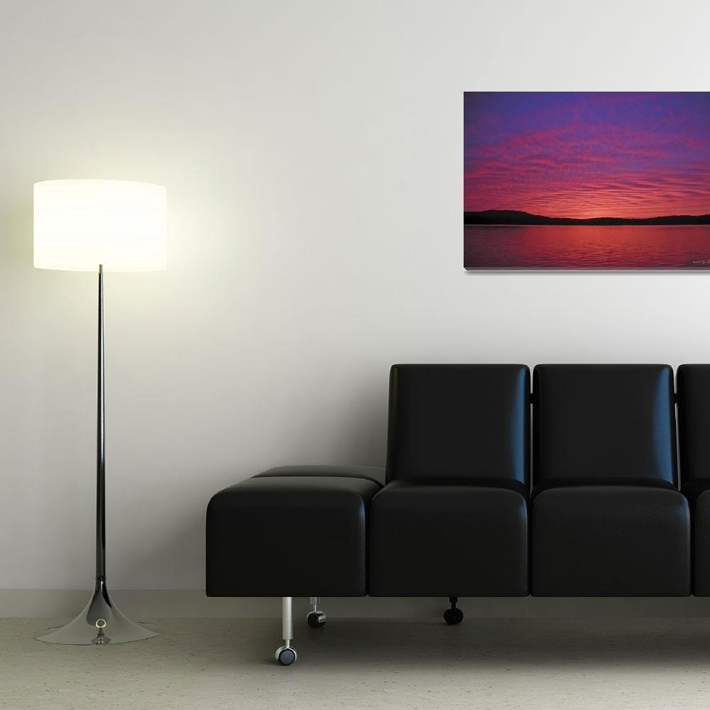 """Sunset Tupper Lake&quot  by HodlinGallery"