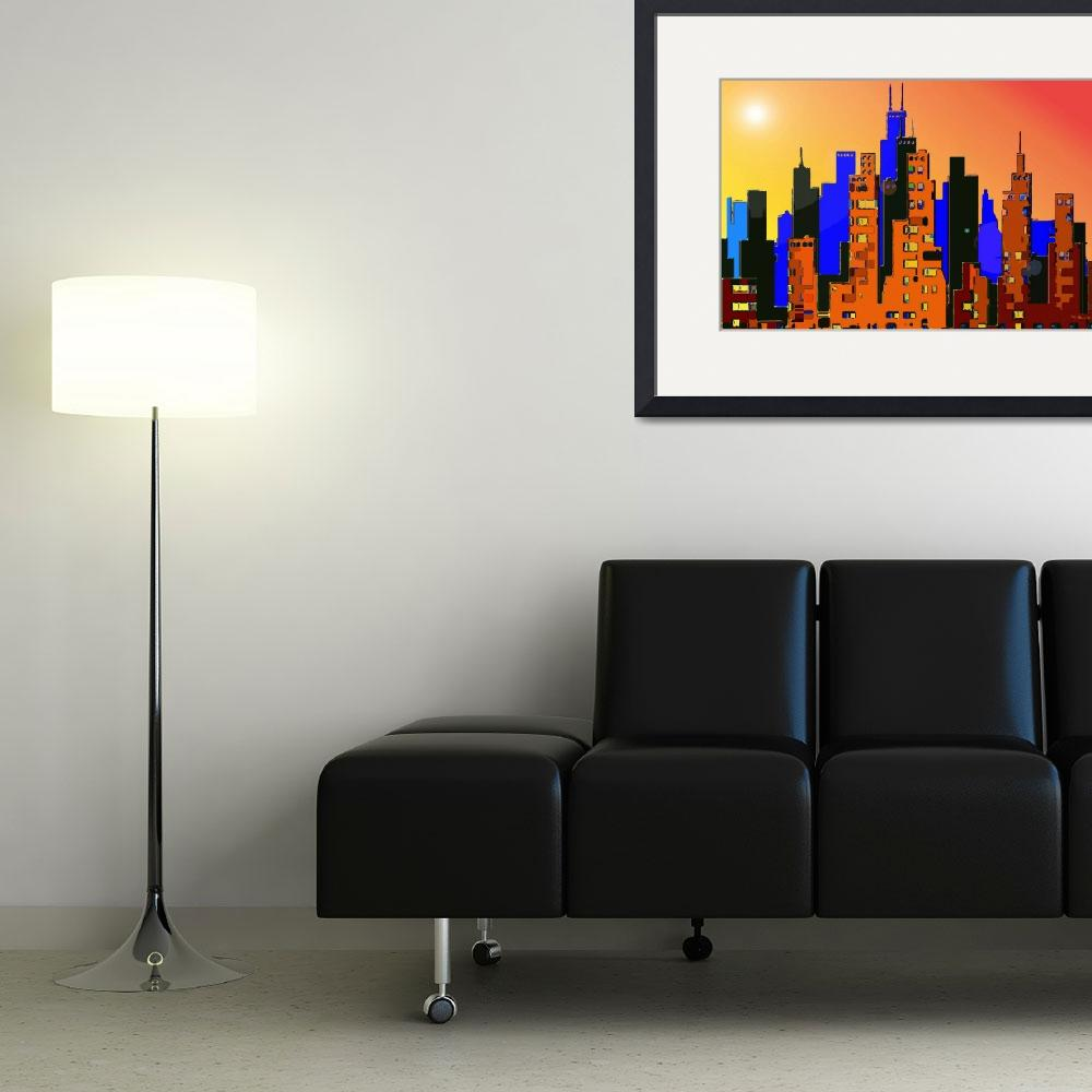 """Cityscape 1&quot  (2009) by Chicagoartist1"