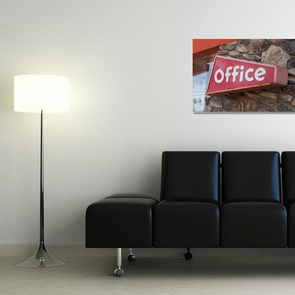 """Office Sign&quot  (2013) by midcenturymodern"