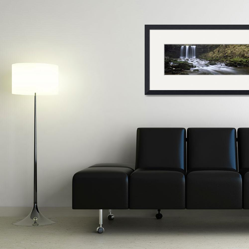 """Waterfall in a forest Sgwd Yr Eira Afon Hepste Br&quot  by Panoramic_Images"