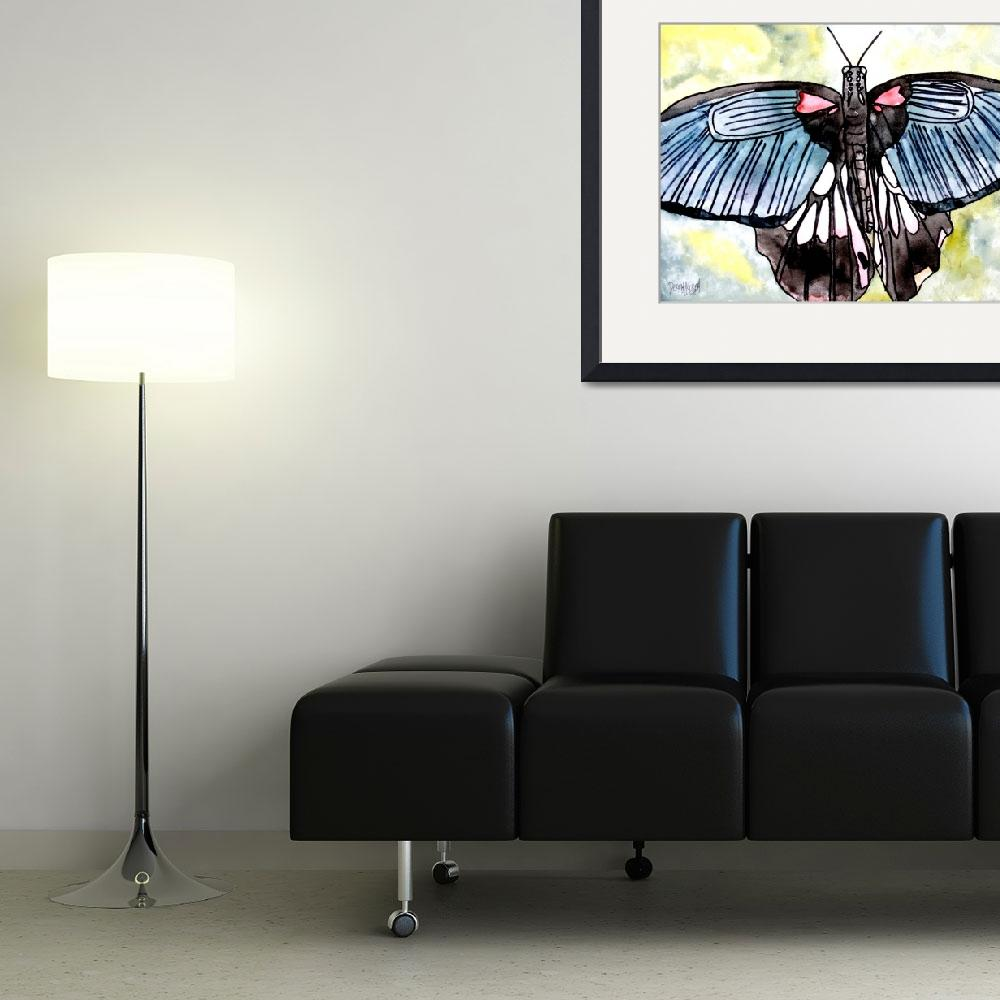 """butterfly macro watercolor painting&quot  (2008) by derekmccrea"