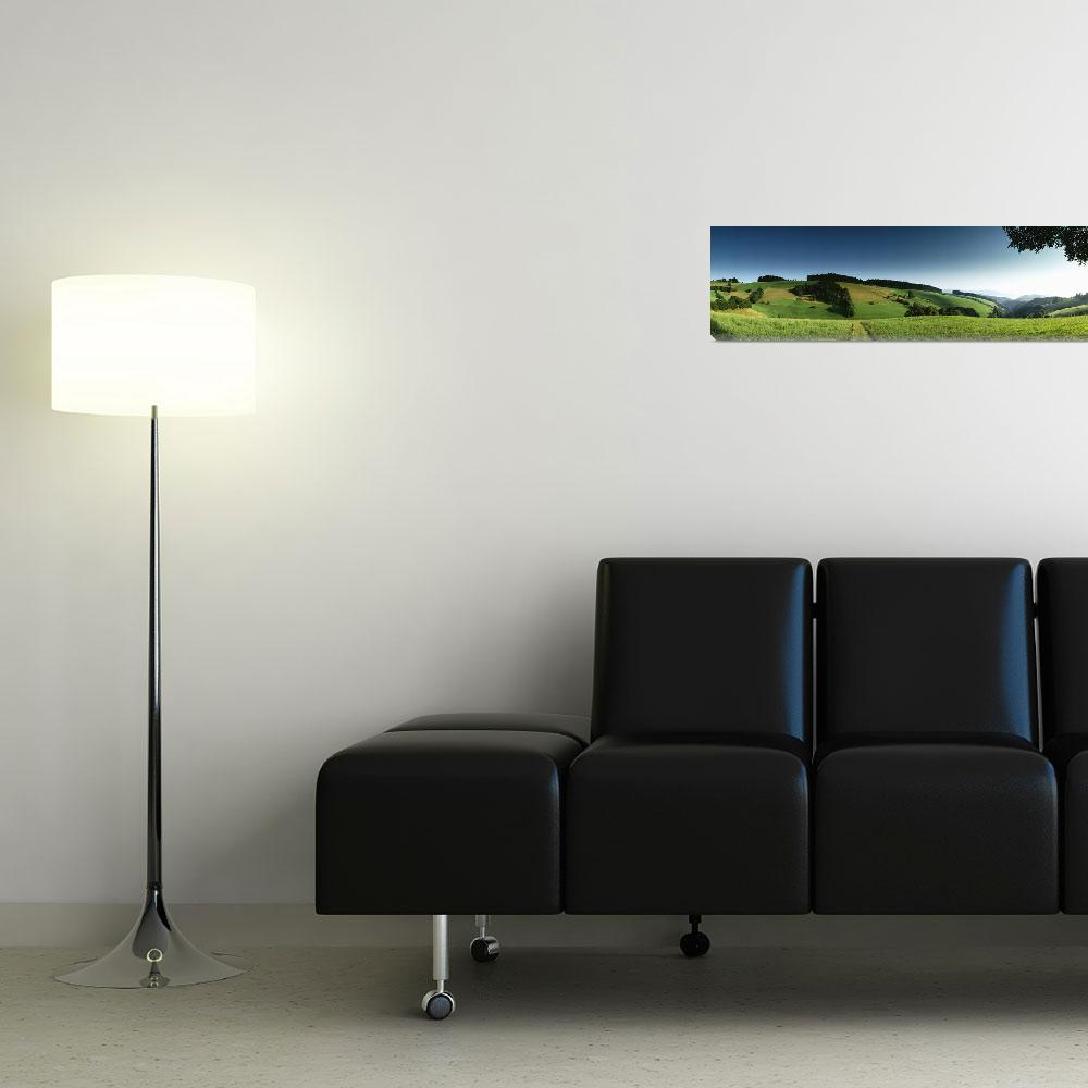 """Panoramic view of a landscape&quot  by Panoramic_Images"