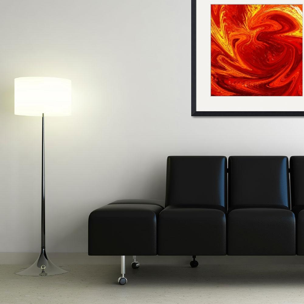 """Hot Abstract Painting Flaming Vortex&quot  (2015) by IrinaSztukowski"