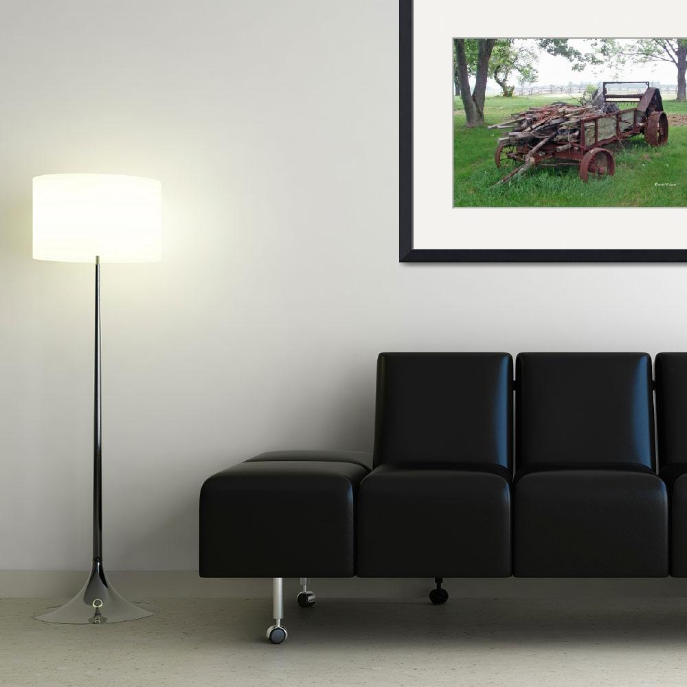 """Old Farm Manure Spreader&quot  (2011) by BrendaSalyersArt"