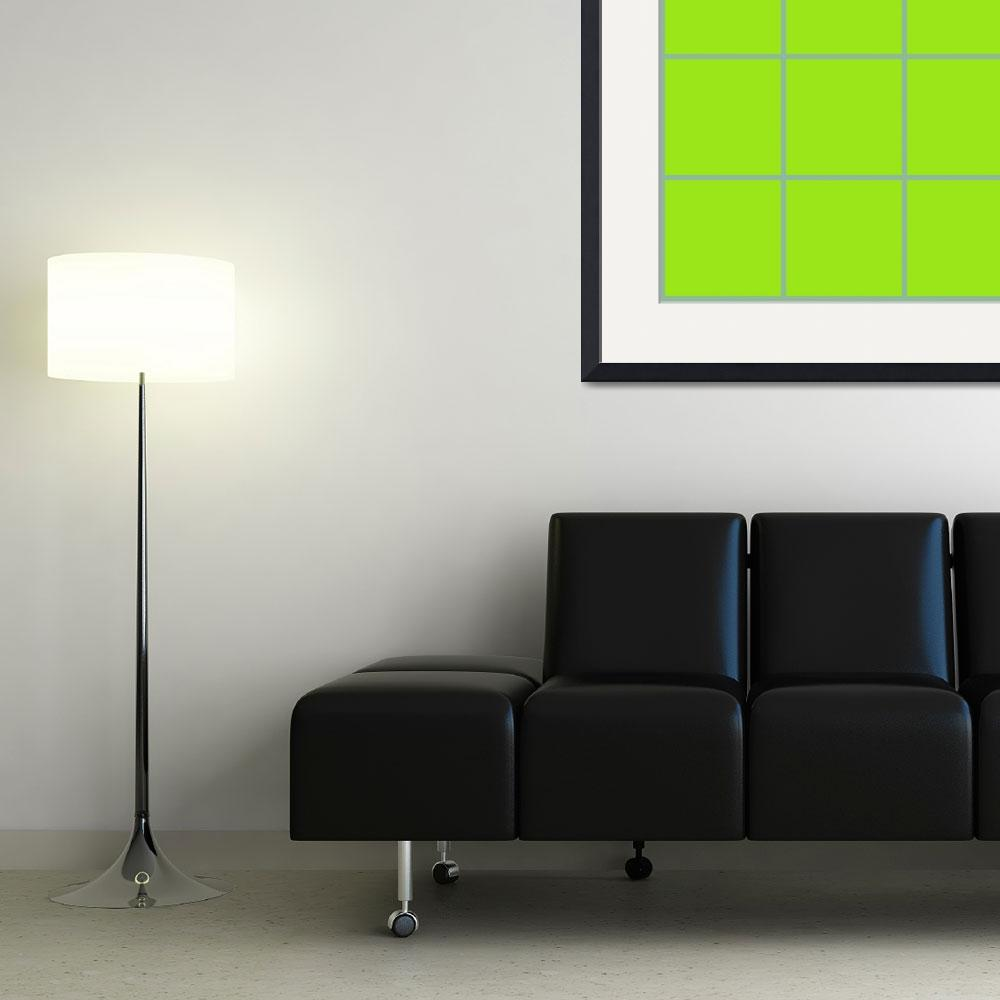 """Green Window 030 Canvas Contemporary Modern&quot  (2010) by Ricardos"