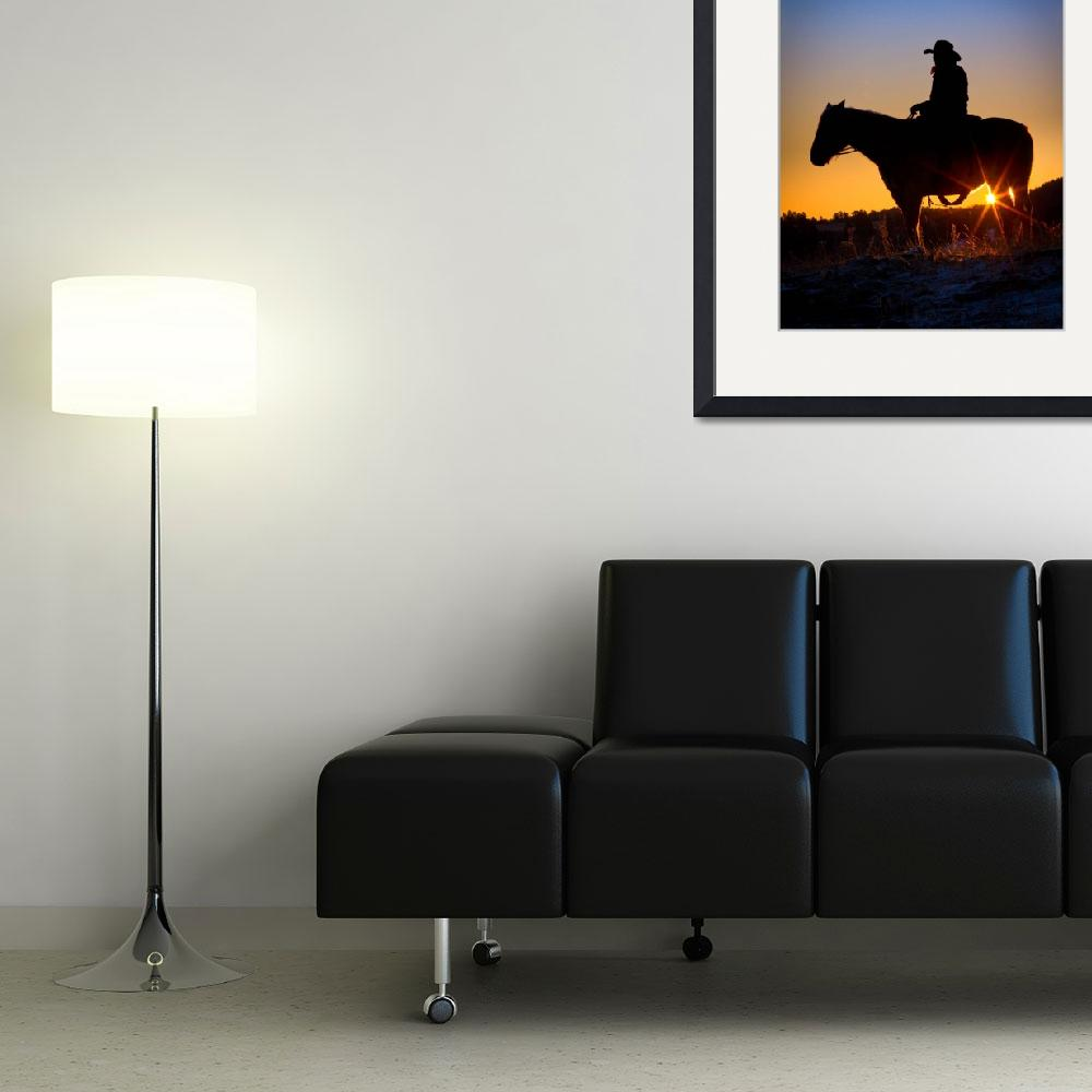"""Sunrise Cowboy&quot  (2012) by Inge-Johnsson"