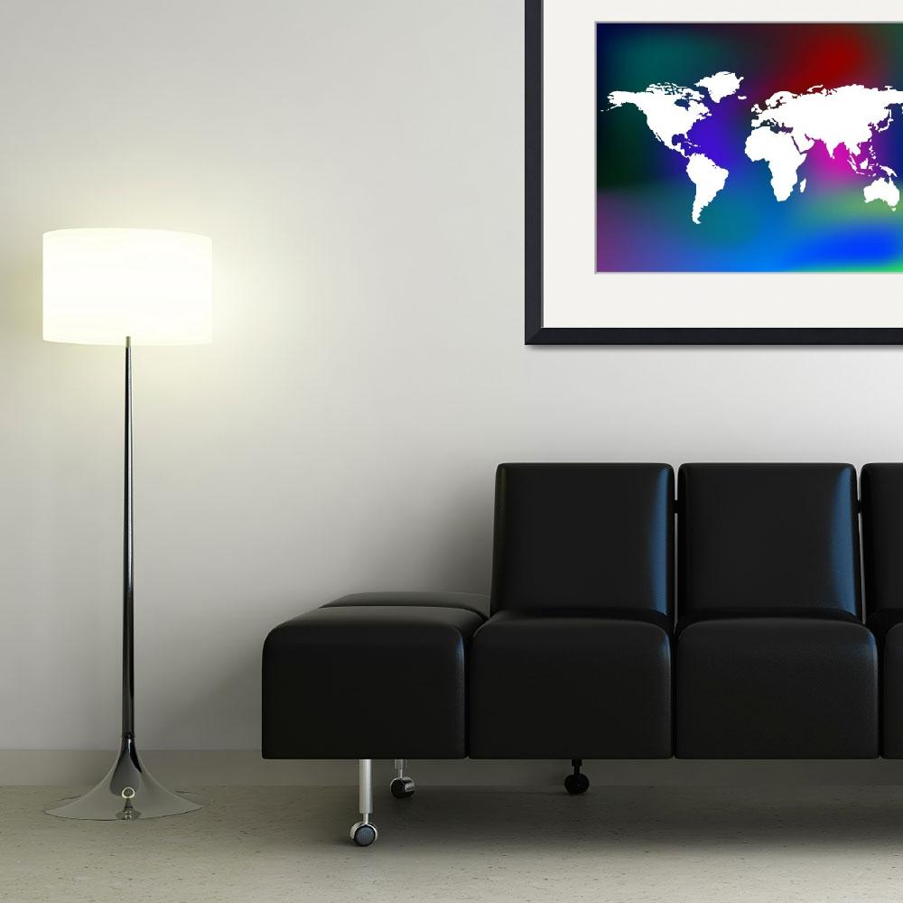 """unique abstract background and world map&quot  by robertosch"