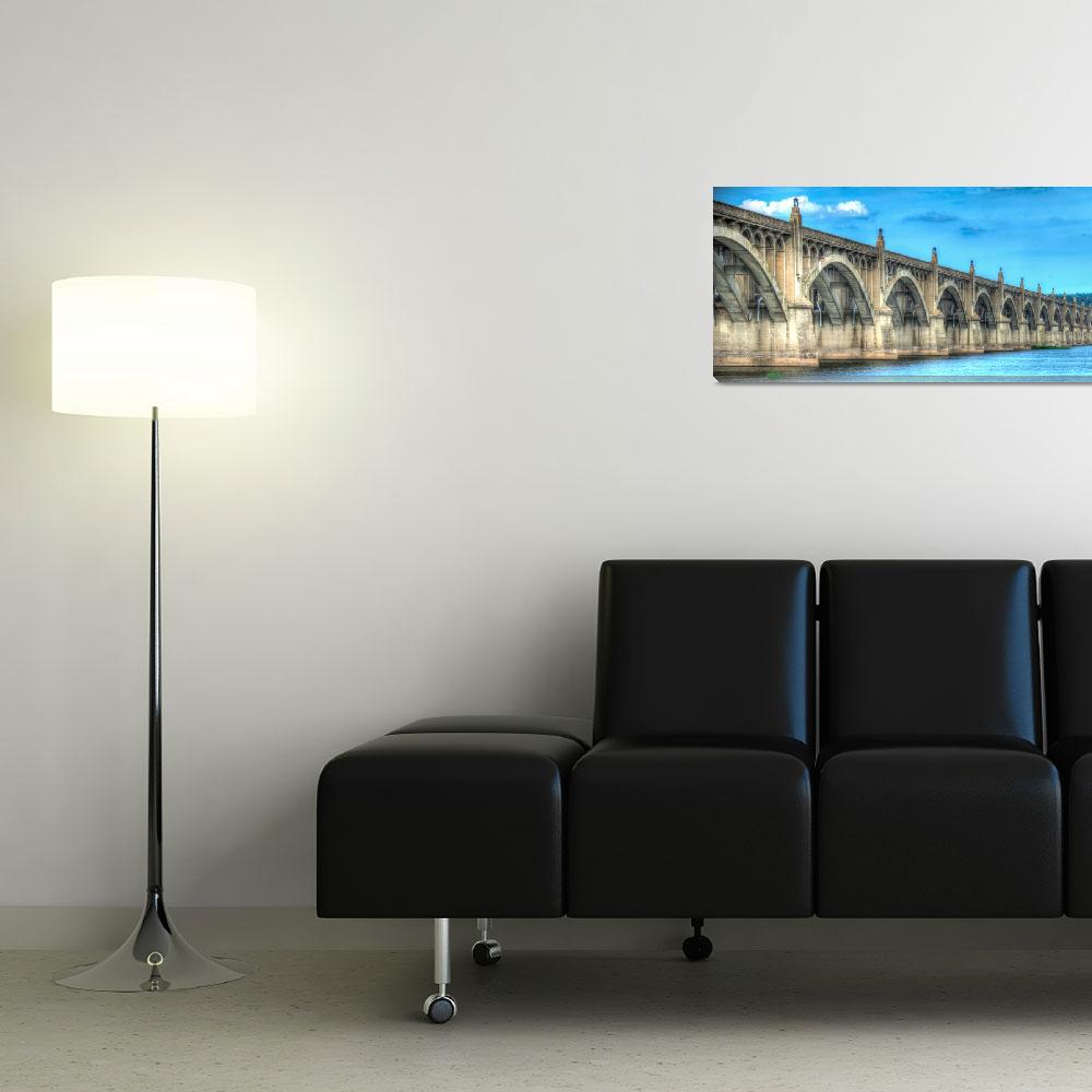 """Columbia-Wrightsville-Bridge&quot  (2014) by Shadrags"