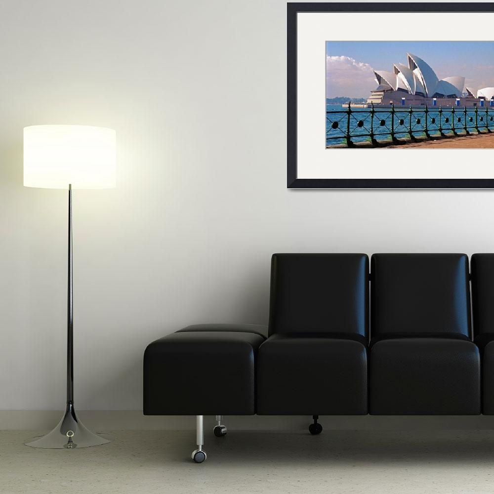 """Sydney Opera House with Fence&quot  (2006) by buffaloworks"